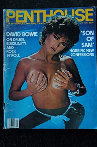 PENTHOUSE US 1983/11 Julia Parton Lale Hansen David Bowie Olivia de Beradinis Status Michael Korda