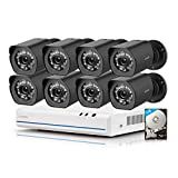 Zmodo sPoE 8CH HDMI Simplfied All-in-One Cable NVR Surveillance Video Security...