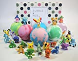 kids bath bombs gift set with surprise toys, 6x4.2 oz fun assorted colored xl bath bombs, kid safe,