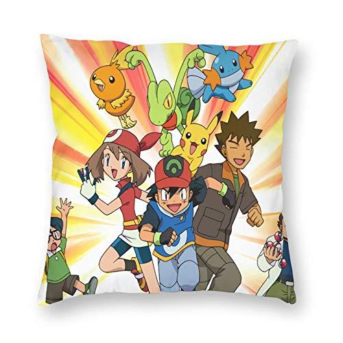 pants hats Poke-Mon Ee-V-Ee93 - Funda de cojín para sofá, dormitorio, balcón, silla, asiento de coche y otros regalos de 45,7 x 45,7 cm