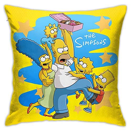 Die Simpsons Soft Throw Kissenbezug Kissen Quadratischer Kissenbezug Stuhlkissen Autokissen 18x18 Zoll
