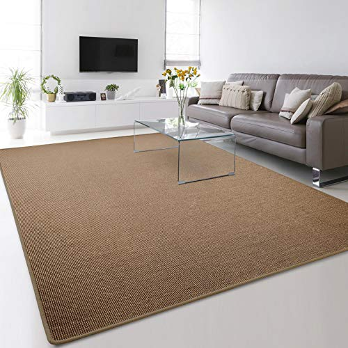 Floordirekt 100% reines Sisal | Sisalteppich vielen Größen (Kork, 66 x 130 cm)