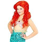 NET TOYS Rote Kinderperücke Meerjungfrau Arielle Kinder Perücke Mädchenperücke Prinzessin Nixe Karnevalsperücke für Mädchen