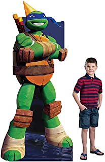 7 ft. 4 in. TMNT Teenage Mutant Ninja Turtles Leonardo Birthday Standee Standup Photo Booth Prop Background Backdrop Party Decoration Decor Scene Setter Cardboard Cutout