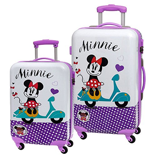 Disney Minnie Vespa Set de Bagages, 68 cm, 97 L, Violet
