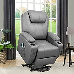 Flamaker Power Lift Recliner Chair PU Leather