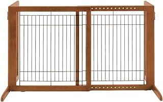 Richell Wood Freestanding Gate, High-Small, Autumn Matte Finish