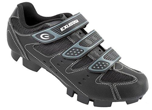 Exustar MTB Bicicleta–Zapatillas, Color Negro/Plateado,...