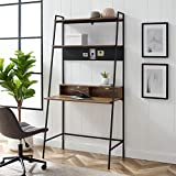 Walker Edison Freya Urban Industrial Ladder Desk with Metal Magnet Board, 36...