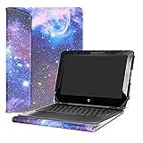 Alapmk Diseñado Especialmente La Funda Protectora de Cuero de PU para 11.6' HP Chromebook x360 11 G1 EE & Chromebook 11 X360 11-aeXXX / aa0XX / ab0XX Series Ordenador portátil,Galaxy
