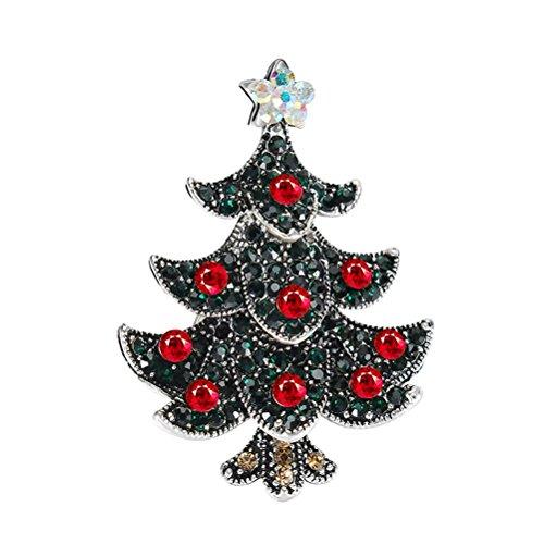 BESTOYARD Kristall Weihnachtsbaum Brosche für Frauen Mädchen