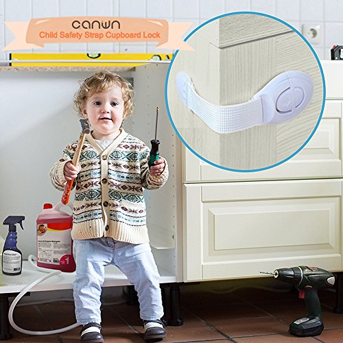 10 Pack Cupboard Child Locks Canwn Child Drawer Safety Locks Strong Adhesi...