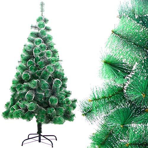 DISON TOYS Albero di Natale artificiale naturale pino bianco neve albero decorativo verde con supporto in metallo decorazione natalizia 180 cm 220 Tips