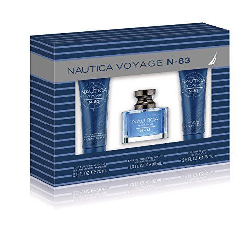 Nautica N83 3 Piece Gift Set (1.0 Ounce Eau De Toilette Plus 2.5 Ounce Aftershave Balm Plus 2.5 Ounce Shower Gel)
