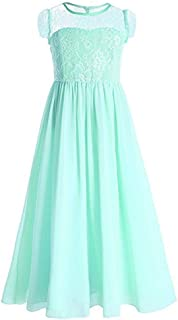 Princess Chiffon Junior Bridesmaid Dress Prom Party Gown Long Wedding Flower Girl's Dresses