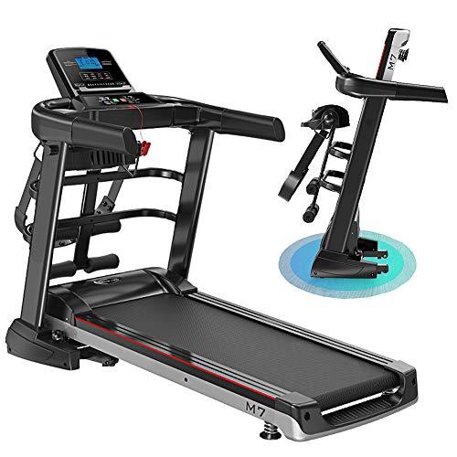 BQSWYD Caminadora Eléctrica Plegable, Cinta de Correr Profesional, Máquina de Aerobic Deporte Equipo de la Aptitud con 1,0~12,8 km/h, 12 Programas de Formación, App, Pantalla LCD, de hasta 150 kg