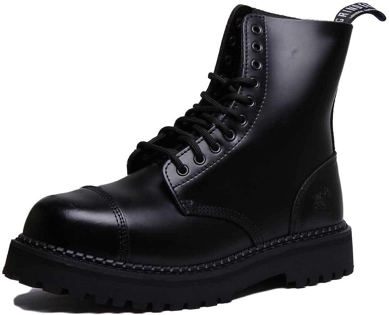 Grinder Bulldog C Unisex läder Matt Flat i i i svart  det bästa nätbutikbjudandet