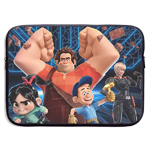 Wreck It Ralph Laptop Sleeve Bag Case,Waterproof and Foldable Laptop Briefcase Neoprene Soft Carring Tablet Travel Case,13 inch