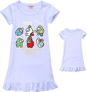 Zheart Vestido de fiesta para niñas 'Among Us', vestido de fiesta para niñas, camisón corto