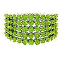 2.50カラット人工クリプトナイト結婚指輪 (AAA品質), 14K ホワイトゴールド, Size: 24