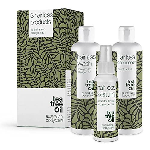 3er Set Haarausfall - 3 Produkte ideal für Frauen und Männer mit Haarausfall. Im Set: Haarausfall Serum 150ml, Haarausfall Shampoo 250ml und Haarausfall Spray 150ml von...
