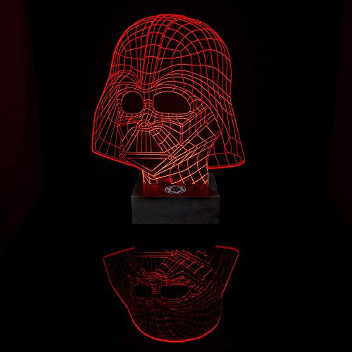 Paladone - SW Lámpara Darth Vader Color Rojo