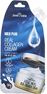 Sponsored Ad - SHINSIAVIEW Milk Plus Collagen Cream 1.05 Oz (30g) l Lithgt and Portable Spout Pouch Style for Anytime(incl...