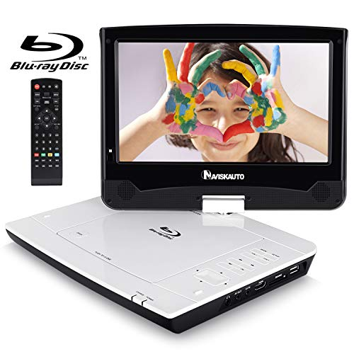 Sale!! NAVISKAUTO 10.1 Portable Blu Ray Player with Rechargeable Battery Support HDMI Output, 1080P...