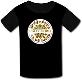 Peppers Lonely Hearts Club Band Beatles Sports Sweat Tee for Kids Boys Girls Black Raglan T-Shirts Short Sleeve SGT