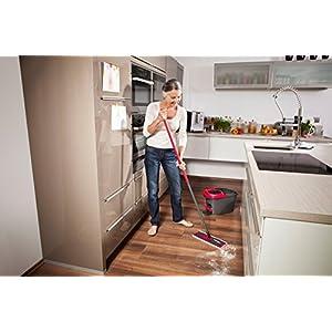 Vileda Easy Wring & Clean Ultra Mat - balai à plat + seau à pédale - set complet - ref 140827 Ancienne version