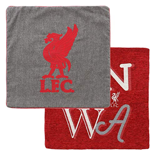 Liverpool FC Red/Grey Football 2 Pack Cushion Covers AW 18/19 LFC Official
