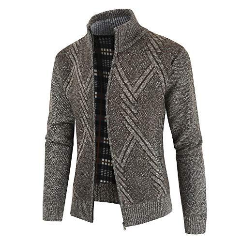 Aiserkly Winter Strickjacken Cardigan Sweater Jacke Herren Übergangsjacke Freizeitjacke Knitted Jumper Mäntel Klassischer Kurzmantel Winterjacke X-Braun 4XL