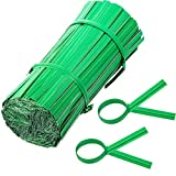 1000 Pieces White Bread Twist Ties Paper Craft Candy Flower Ties for Bags Binding 4 inch (Green)