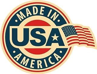 Made In USA America FLag Emblem Badge Star Hochwertigen Auto Autoaufkleber 12 x 10 cm