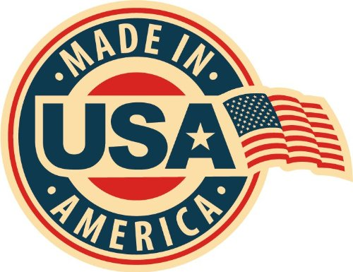 Made In USA America FLag Emblem Badge Star Hochwertigen Auto-Autoaufkleber 12 x 10 cm