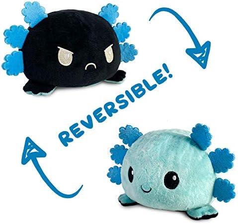 TeeTurtle The Original Reversible Axolotl Plushie Patented Design Blue Black Show Your Mood product image