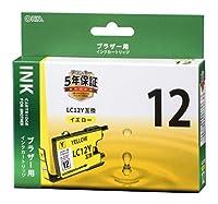 ブラザー LC12Y互換(イエロー×1) 01-4180 INK-B12B-Y