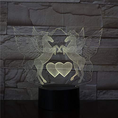 Herz nachtlicht fern Tier Tisch tischlampe Illusion Farbe Dekoration Kinder Schlafzimmer Party Spielzeug