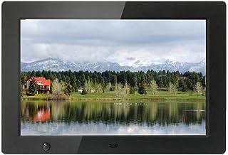 デジタルフォトフレーム10.1インチ-1280x800 HD IPS画面16:10画面イメージプレビュー-時計とカレンダー、リモートコントロールサポート付きUSB/SDカード、ブラック