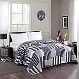 Laneetal 0180026, Tagesdecke Bettüberwurf Steppdecke Bettdecke Patchwork Stepp Decke Doppelbett unterfüttert & gesteppt Wendedesign, 170x210 cm