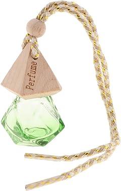 homozy Refillable Empty Glass Perfume Bottle Car - Green, 6 x 2.5cm