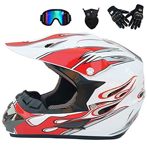 pequeño y compacto CHUDAN Casco integral de motocross para hombres y mujeres, Casco para bicicletas todo terreno …