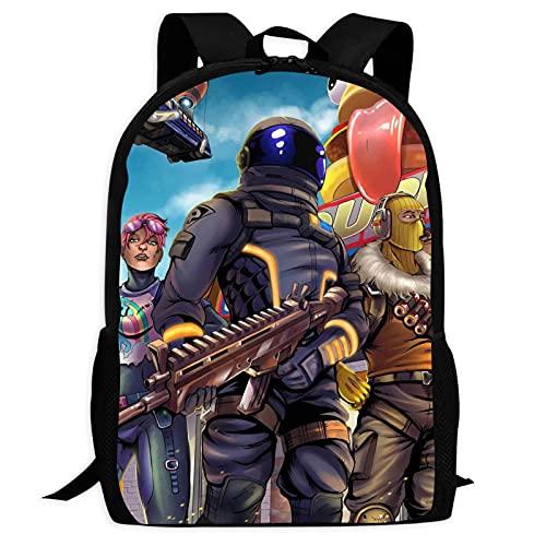 Mochila Fashion Fortnight resistente à água para estudantes universitários mochilas escolares para meninos e meninas, Preto, ONE_SIZE