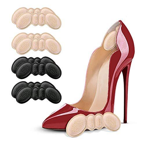 Fersenhalter Fersenpolster Pads Ferse Schuheinlagen für Besseren Schuh Passend und Komfort (4 Schwarz und 4Beige) (Schwarz+Beige)