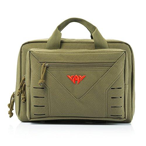 Tactical Pistol Case Soft Range Bag for Handguns 10L (Green)