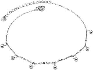 Les Trésors De Lily Q0924 - Acciaio catena peg 'Chorégraphie' argento - 3 mm sfere.