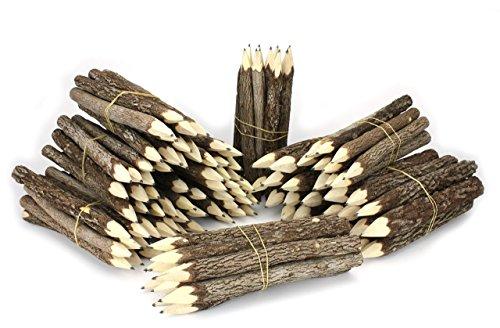 Thai Albero Ramo Ramoscello Pencil Bundle - Large Size - Solo nero - Multipack di 10 Bundle