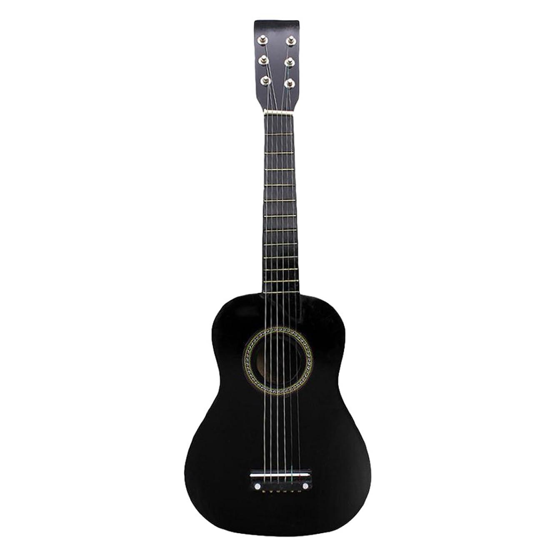 スリンクベーカリーブロンズShiwaki ギター玩具 ミニ 23インチ 木製 6弦ギター アコースティックギター 楽器ギフト 全4色 - ブラック