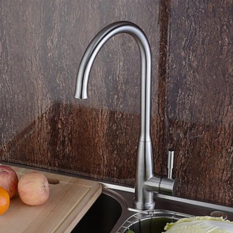 Zeitgenssische hohe   hohe Arc Centerset drehbar mit Keramik-Ventil einzigen Handgriff ein Loch für Edelstahl, Küchenarmatur