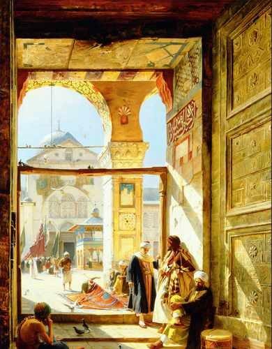 Gustav Bauernfeind Umayyad Mosque A3 Box Canvas Print